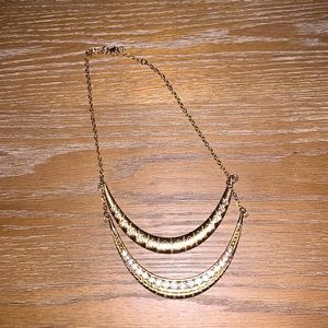 Gold and rine stone necklace